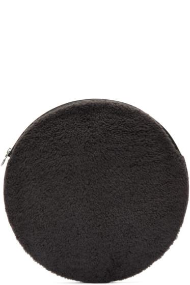 Kara - Grey Shearling Circle Pouch
