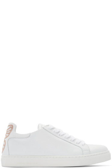 Sophia Webster - White Leather Bibi Sneakers