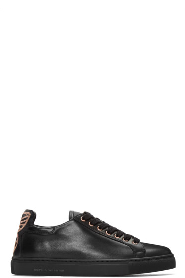 Sophia Webster - Black Leather Bibi Sneakers