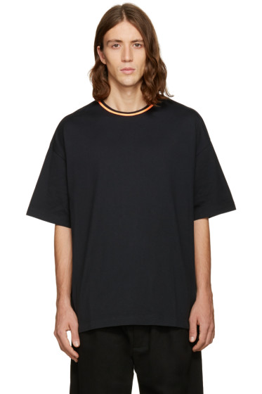 Facetasm - Black Oversized Plain T-Shirt