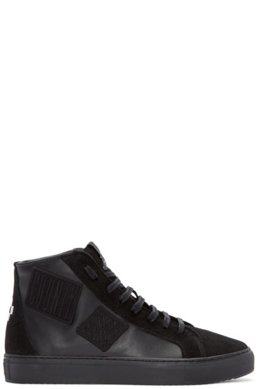 Marcelo Burlon County of Milan - Black Patch High-Top Sneakers