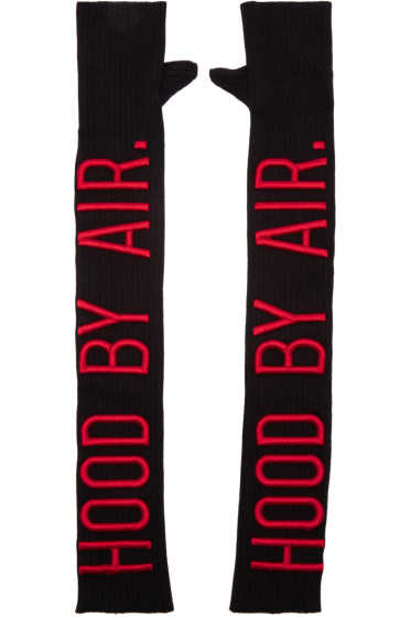 Hood by Air - Black Fingerless Opera Gloves