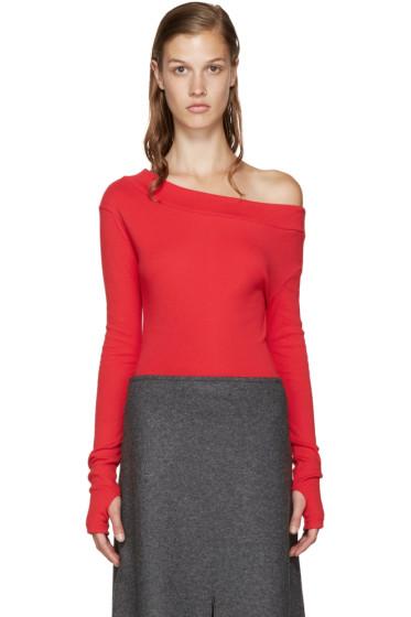 Jacquemus - Red Single-Shoulder T-Shirt