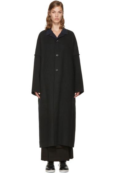 Yohji Yamamoto - Black Double-Face Wool Coat