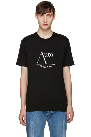 Johnlawrencesullivan - Black 'Auto Suggestion' T-Shirt