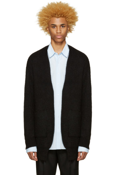 Undecorated Man - Black Mohair Cardigan