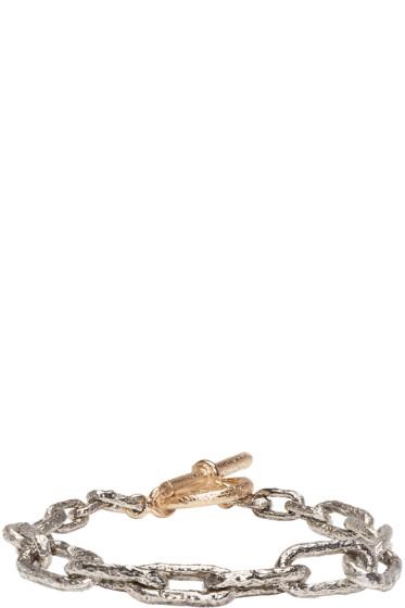 Pearls Before Swine - Silver & Gold Link Bracelet