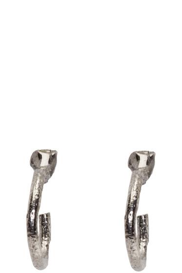 Pearls Before Swine - SSENSE Exclusive Silver Loop Earrings