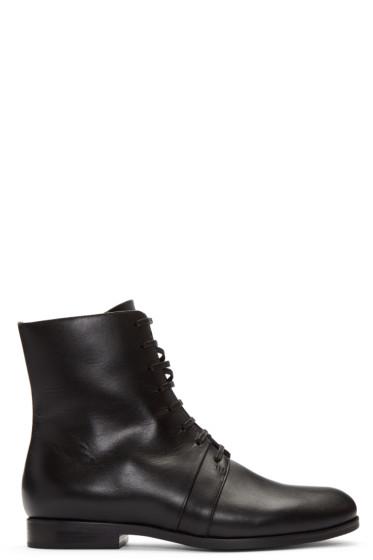Jil Sander Navy - Black Leather Ankle Boots