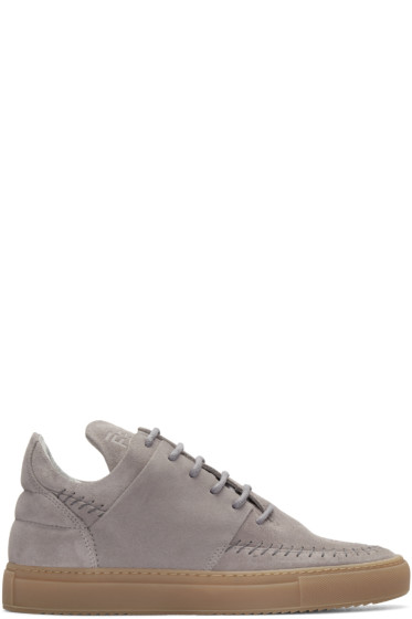 Filling Pieces - Grey Suede Apache Sneakers