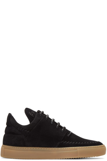 Filling Pieces - Black Suede Apache Sneakers