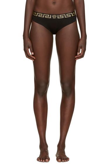 Versace Underwear - Black Logo Briefs