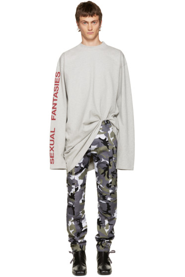 Vetements - Grey 'Sexual Fantasies' T-Shirt