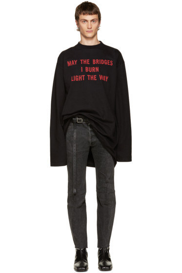 Vetements - Black 'May The Bridges' T-Shirt