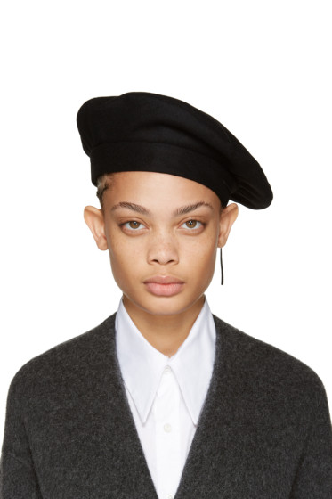 Clyde - Black Wool Beret
