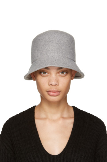 Clyde - Grey Felt Batta Hat