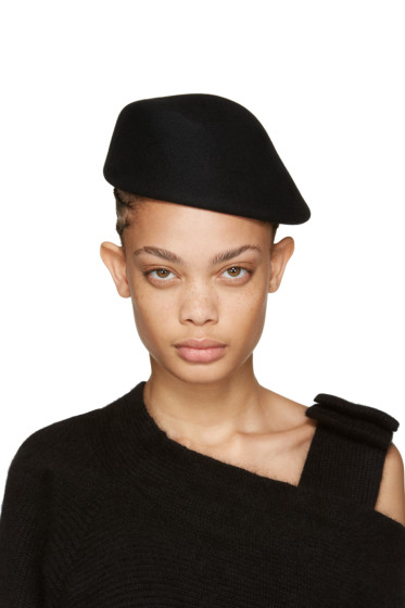 Clyde - Black Wool Sazy Hat