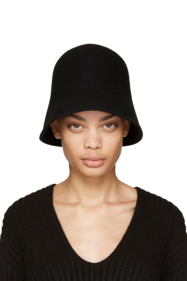 Clyde - Black Wool 4 Way Hat