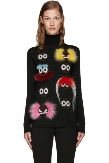 Fendi - Black Wool Wonder Monster Turtleneck
