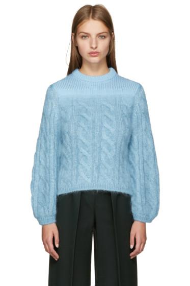 Fendi - Blue Mohair Degrade Sweater