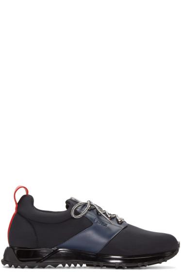 Fendi - Navy Neoprene Sneakers