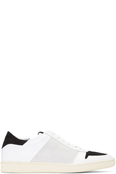 Palm Angels - White & Grey Retro Sneakers