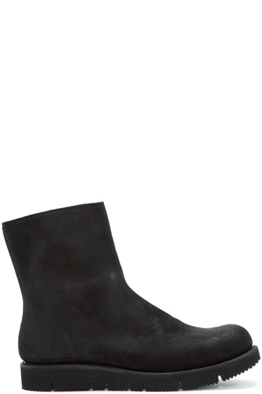 Attachment - Black Distressed Suede Boots