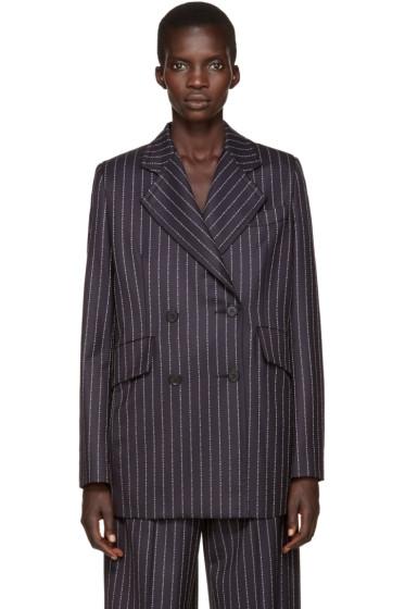 Alyx - Navy Wool Pinstripe Blazer