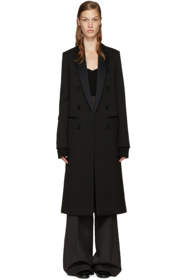 Victoria Beckham - Black Wool Double-Breasted Coat
