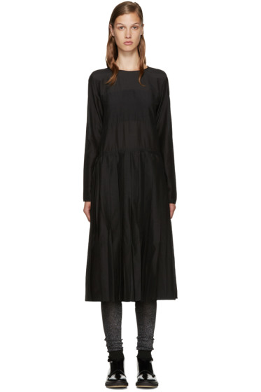 Sara Lanzi - Black Pleated Muslin Dress