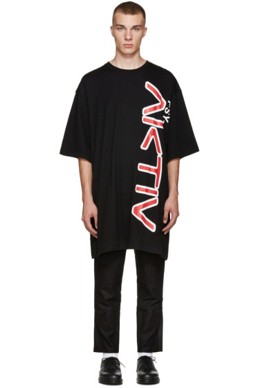 Perks and Mini - Black Oversized Aktiv T-Shirt