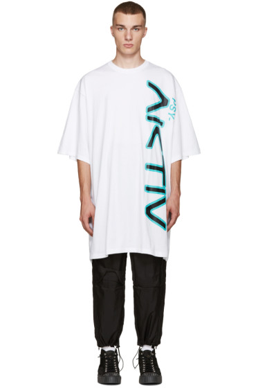 Perks and Mini - White Oversized Aktiv T-Shirt