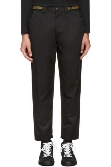 Ganryu - Black Cinch Strap Trousers