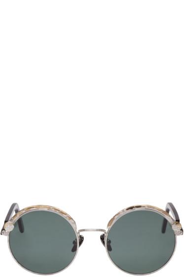 Kuboraum - Silver & Tortoiseshell Maske Z1 Sunglasses