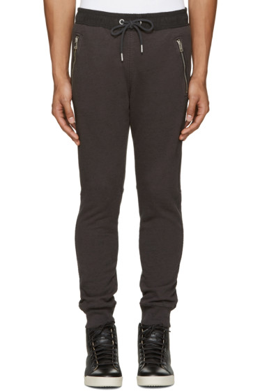 Diesel - Grey & Black P-Herk Lounge Pants