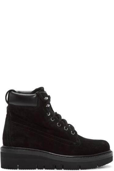 Rag & Bone - Black Suede Camden Boots