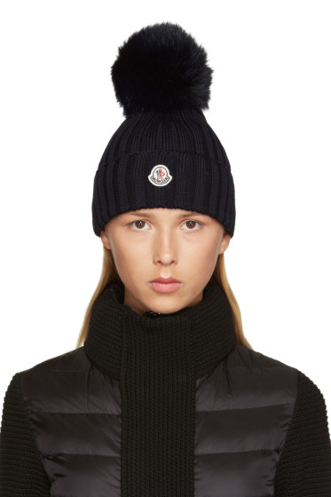 Moncler - Navy Wool Beanie