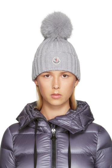 Moncler - Grey Wool Beanie