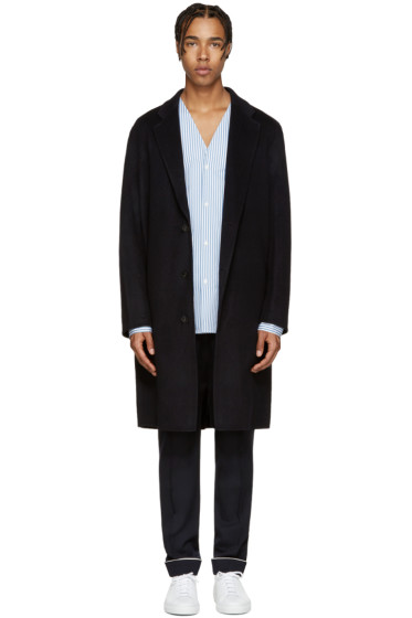 Acne Studios - Navy Wool Charles Coat