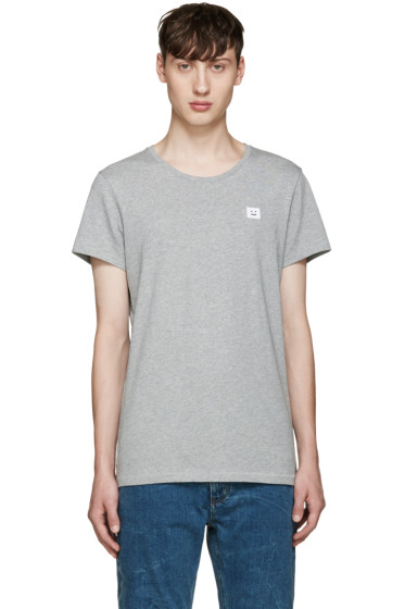 Acne Studios - Grey Standard Face T-Shirt