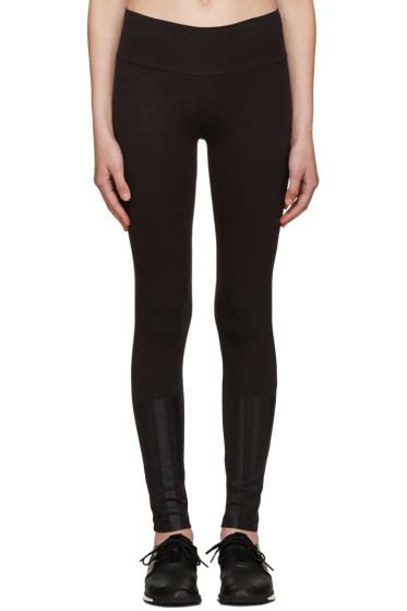 Y-3 - Black Jersey Leggings