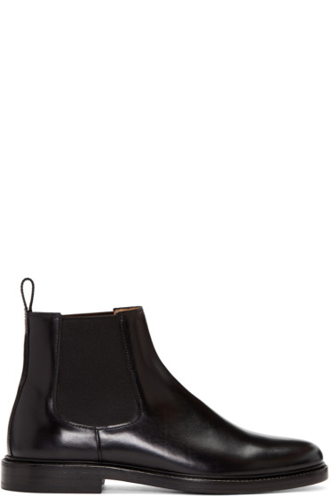 A.P.C. - Black Leather Chelsea Boots
