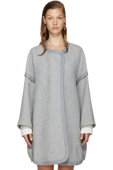 Chloé - Grey Wool Iconic Coat