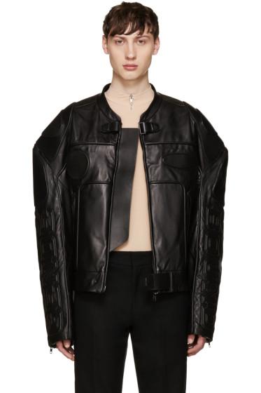 Juun.J - Black Oversized Biker Jacket