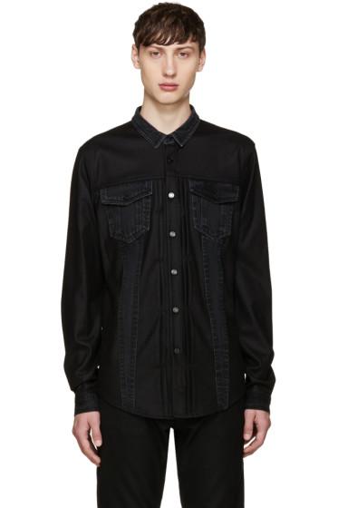 Juun.J - Black Denim Mix Shirt
