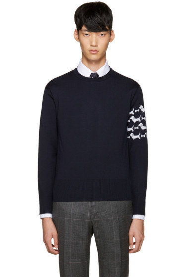 Thom Browne - Navy Hector Arm Band Pullover