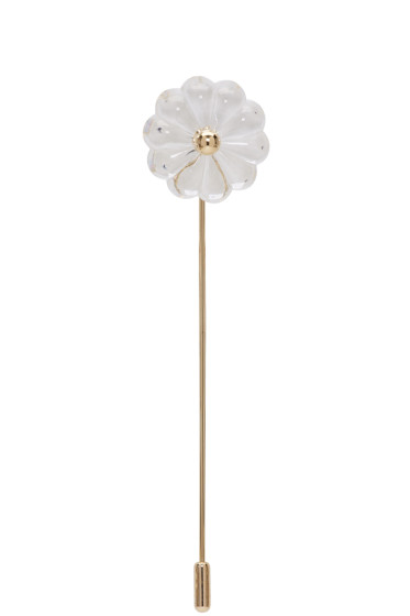 Simone Rocha - Transparent & Gold Flower Brooch