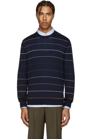 PS by Paul Smith - Navy Wool Striped Pullover