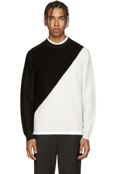 PS by Paul Smith - Black & Ivory Merino Sweater