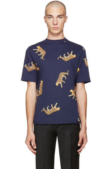 PS by Paul Smith - Navy Leopard T-Shirt